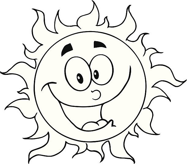 best sun clipart black and white pictures illustrations