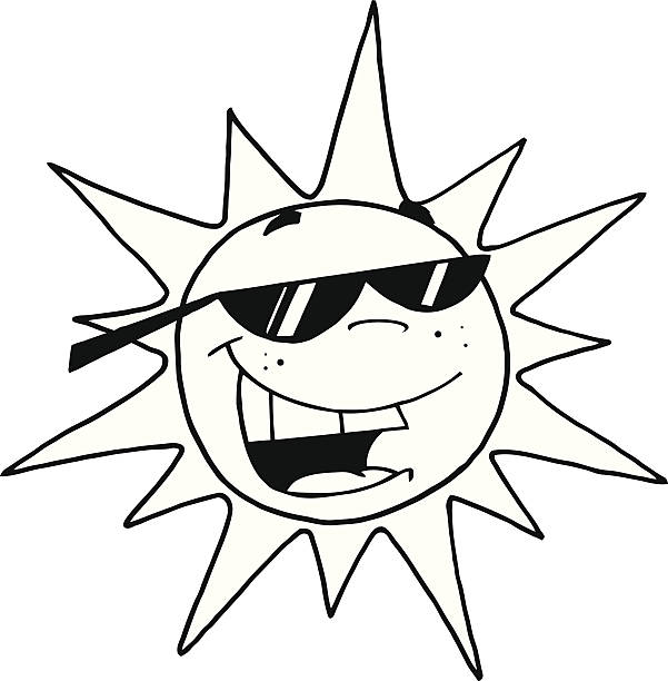 Best Sun Clipart Black And White Pictures Illustrations ...