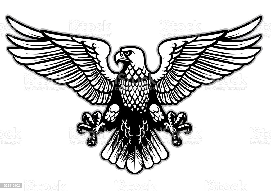 Black And White Heraldry Eagle Stock Vector Art & More ...