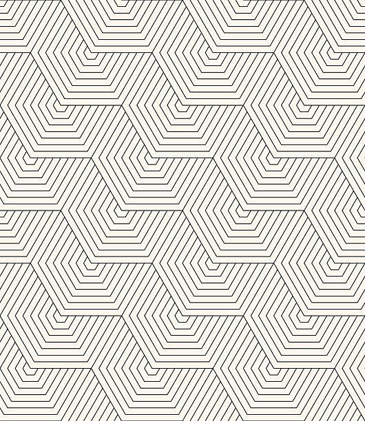 schwarze und weiße sechseck kontur versehen. - rankgitter stock-grafiken, -clipart, -cartoons und -symbole