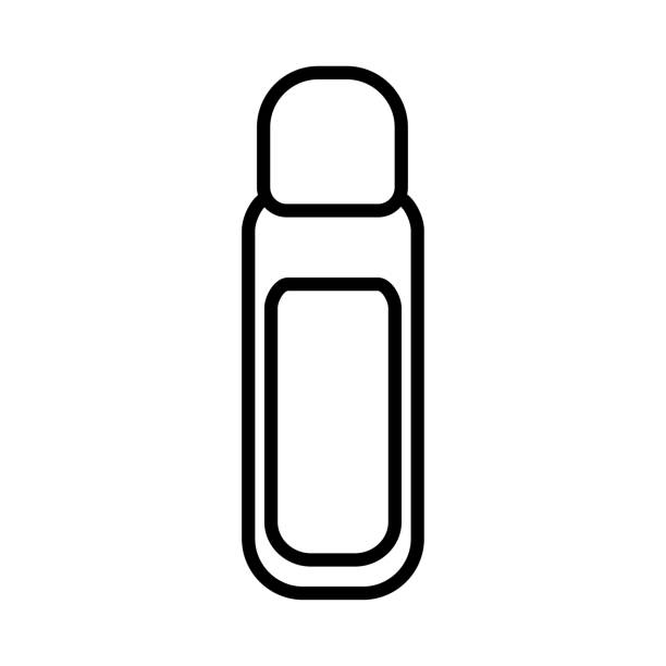 Black and white icon simple linear fashionable glamorous jars with cosmetic liquid for removing nail polish, makeup for beauty guidance. Vector illustration Black and white icon simple linear fashionable glamorous jars with cosmetic liquid for removing nail polish, makeup for beauty guidance. Vector illustration. white nail polish stock illustrations