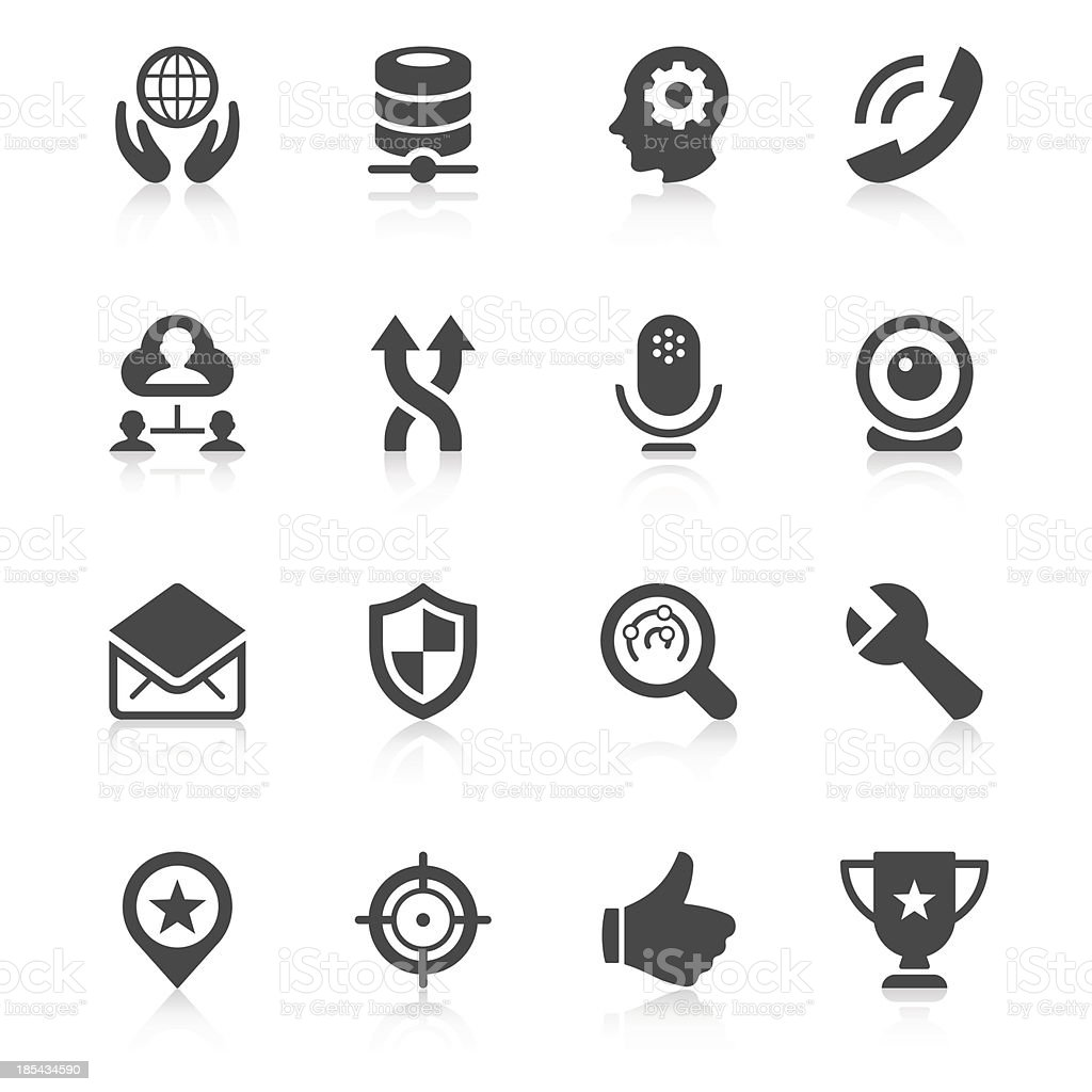 Black and white illustrated web icons royalty-free stock vector art