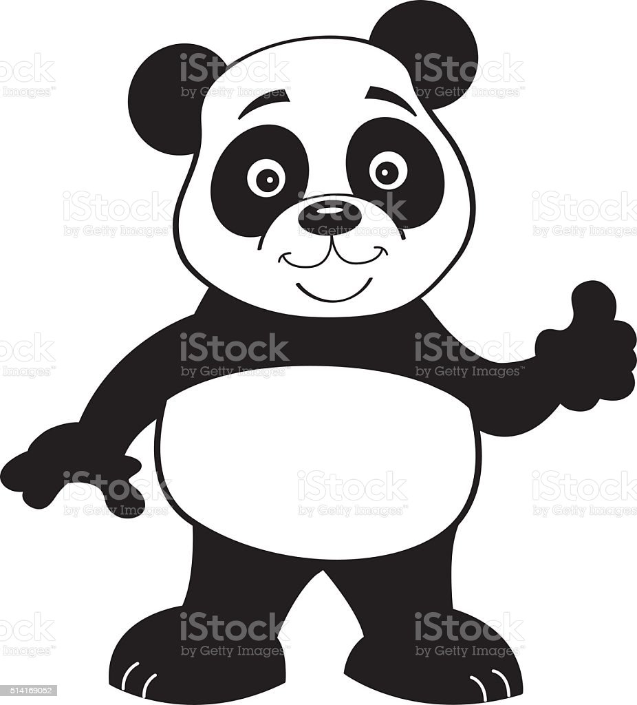Noir Et Blanc Illustration De La Panda Vecteurs Libres De