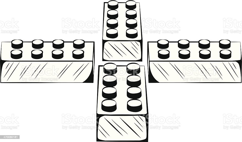 Black and white illustration pieces of lego stock vector art more black and white illustration pieces of lego royalty free black and white illustration pieces of stopboris Gallery