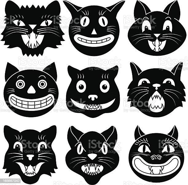 Black and white images of halloween cat heads vector id165667042?b=1&k=6&m=165667042&s=612x612&h=2q9zrslnlnzbu32j9epterihf9fphkvk apvih1z6um=