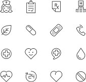Black and white images of medicine logos