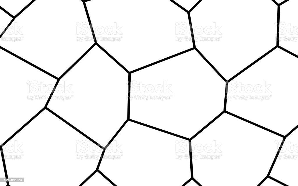 Schwarz Weiß Unregelmäßigen Mosaik Vorlage Stock Vektor Art und mehr ...
