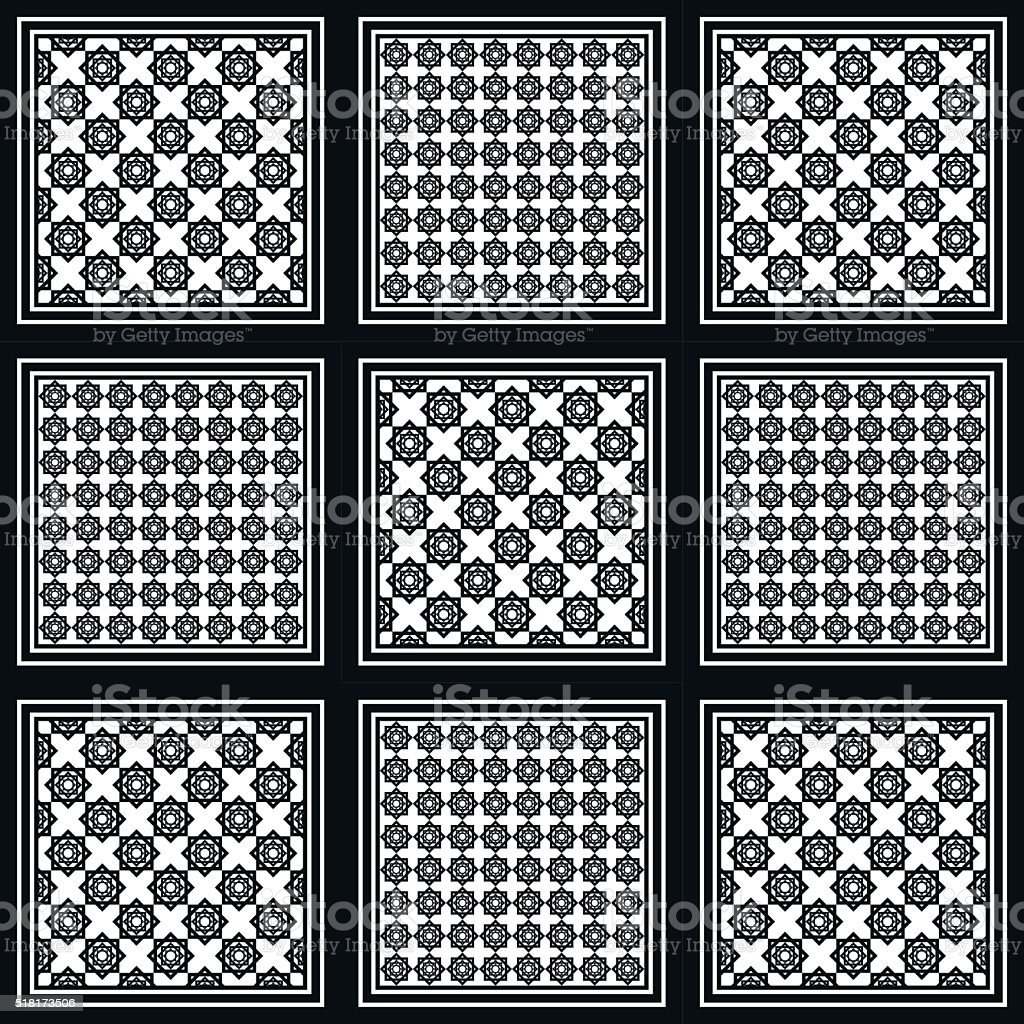 Black and white keffiyeh for men the middle East vector art illustration