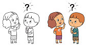 istock Black And White, Kid explain to friend 1278749308