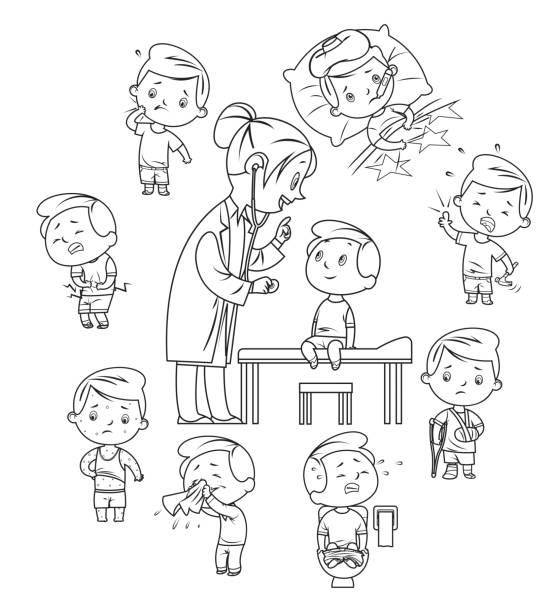 Best Coloring Nurse For Children Profession Illustration