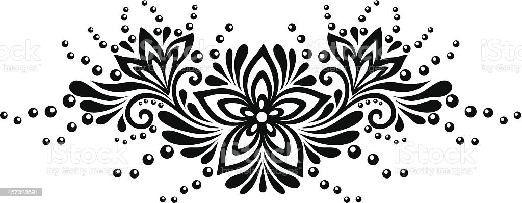 Black and white lace flowers leaves floral design element stock black and white lace flowers leaves floral design element royalty free black and mightylinksfo