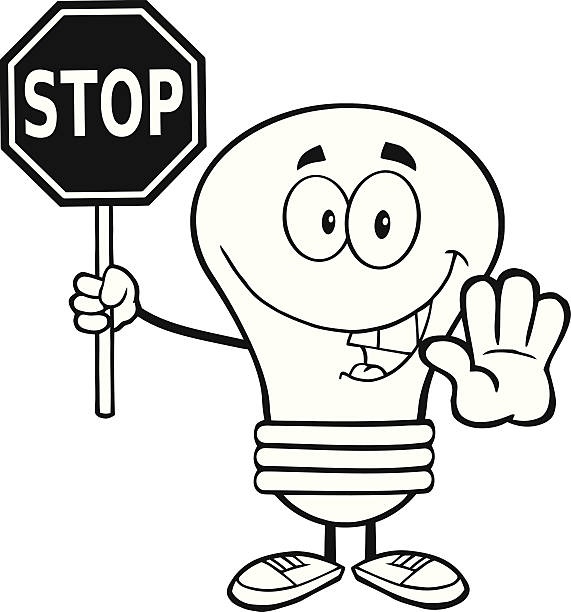 Top 60 Drawing Of A Stop Sign Black And White Clip Art