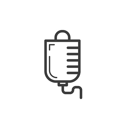 black and white linear frameless dropper icon