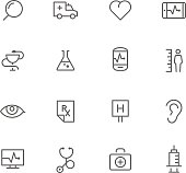Icon Set, Medicine on white background, made in adobe Illustrator (vector)