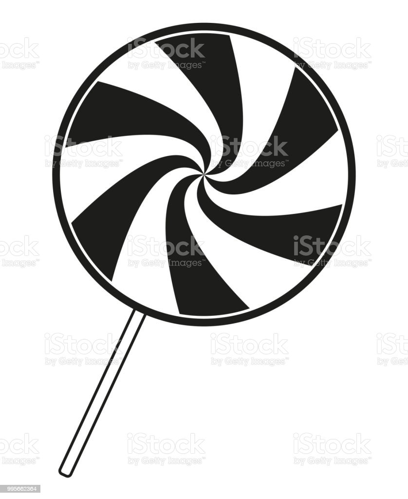 black and white lollipop silhouette stock vector art more images