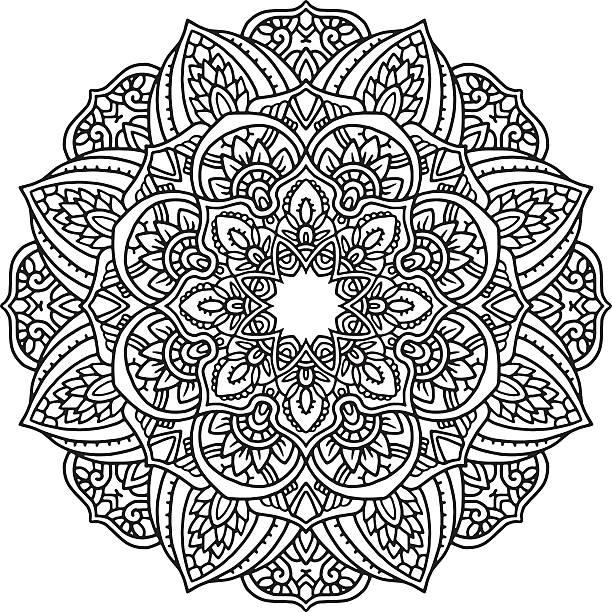 ブラックとホワイトの曼荼羅  - アジアのタトゥー点のイラスト素材/クリップアート素材/マンガ素材/アイコン素材
