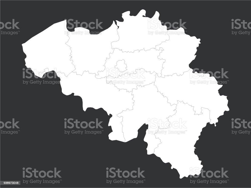 Carte Belgique Noir Et Blanc.Carte Noir Et Blanc De Belgique Vecteurs Libres De Droits Et
