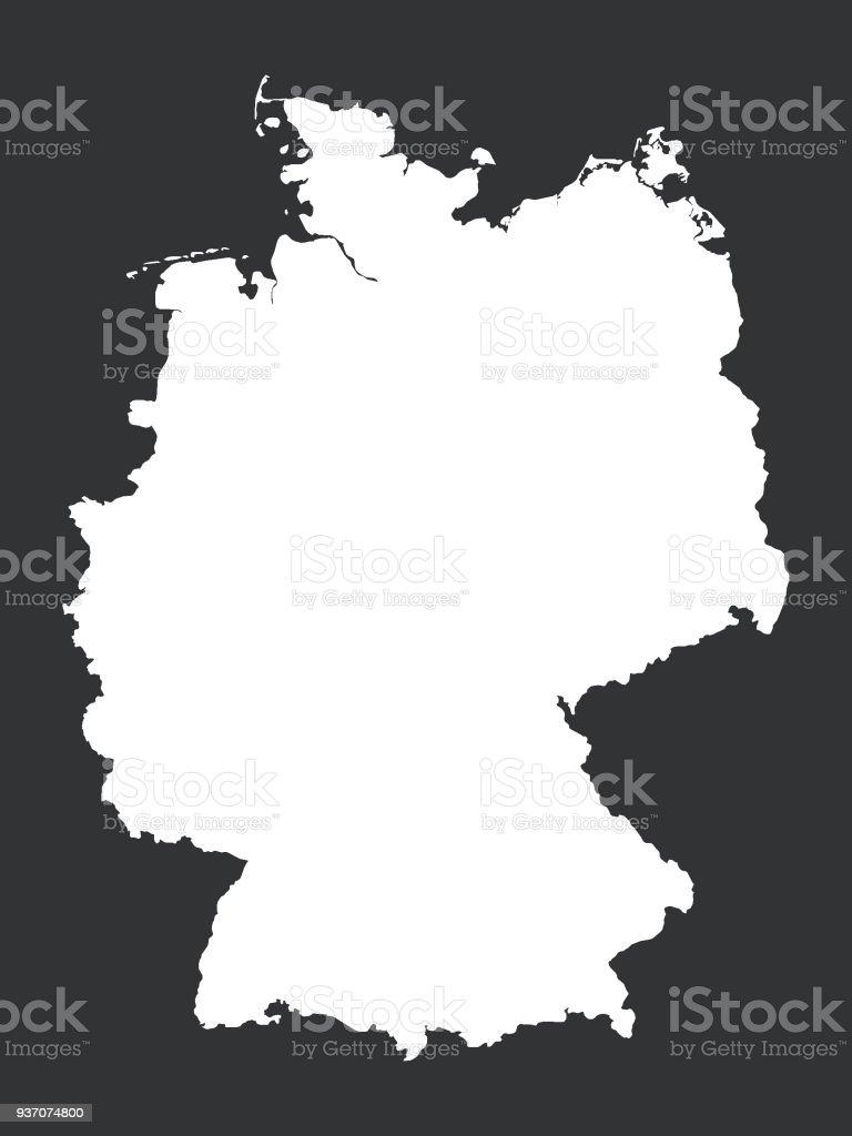 Carte Allemagne Noir Et Blanc.Carte Noir Et Blanc De Lallemagne Vecteurs Libres De Droits Et Plus D Images Vectorielles De Allemagne