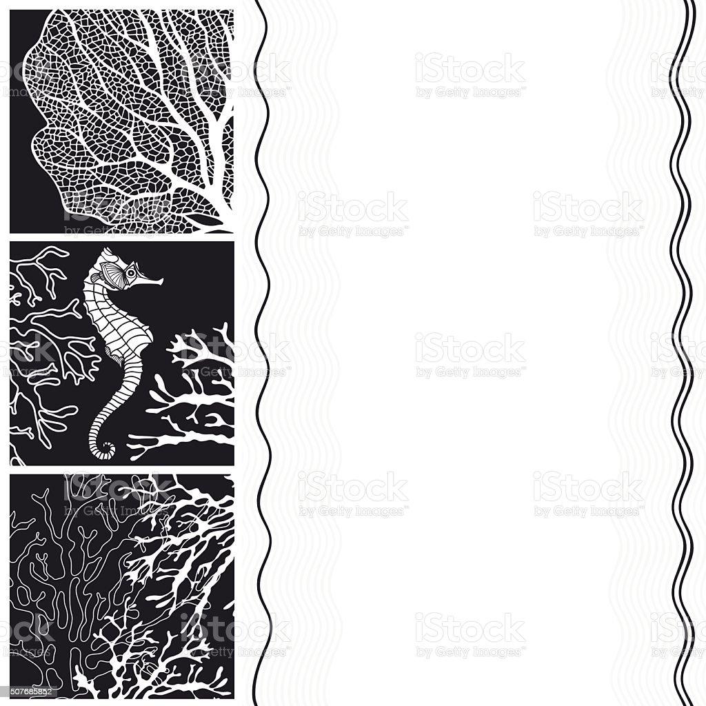 Ilustración de Marina Ilustraciones Blanco Y Negro Con Espacio Para ...