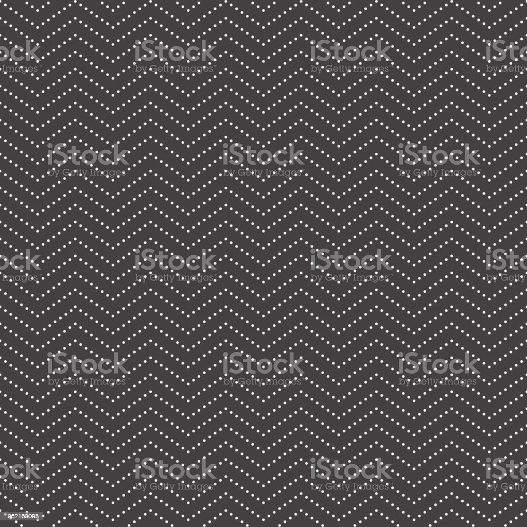 Black And White Mini Simple Zigzag Dot Seamless Pattern For