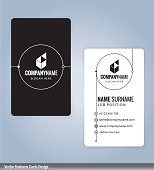 Black and white modern business card template, Illustration Vector 10