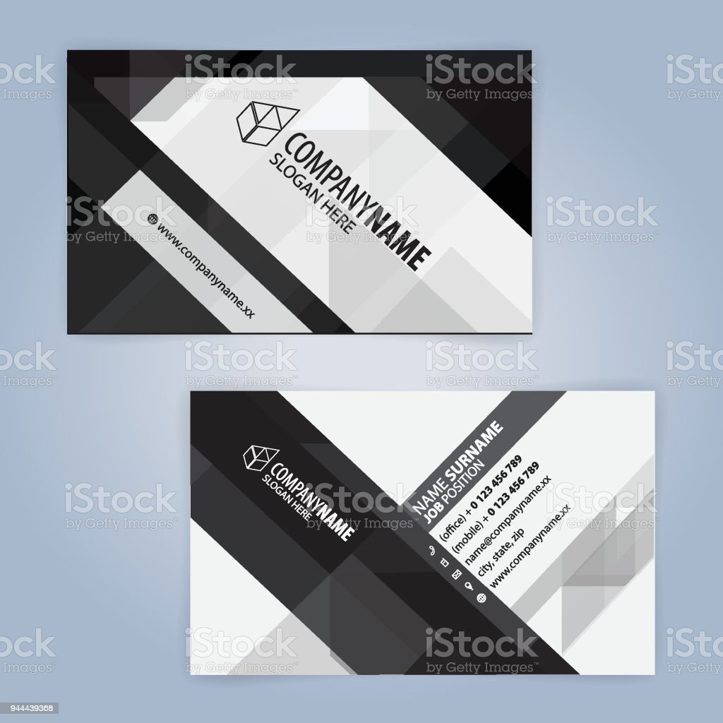 Black and white modern business card template arte vetorial de black and white modern business card template black and white modern business card template arte reheart Images