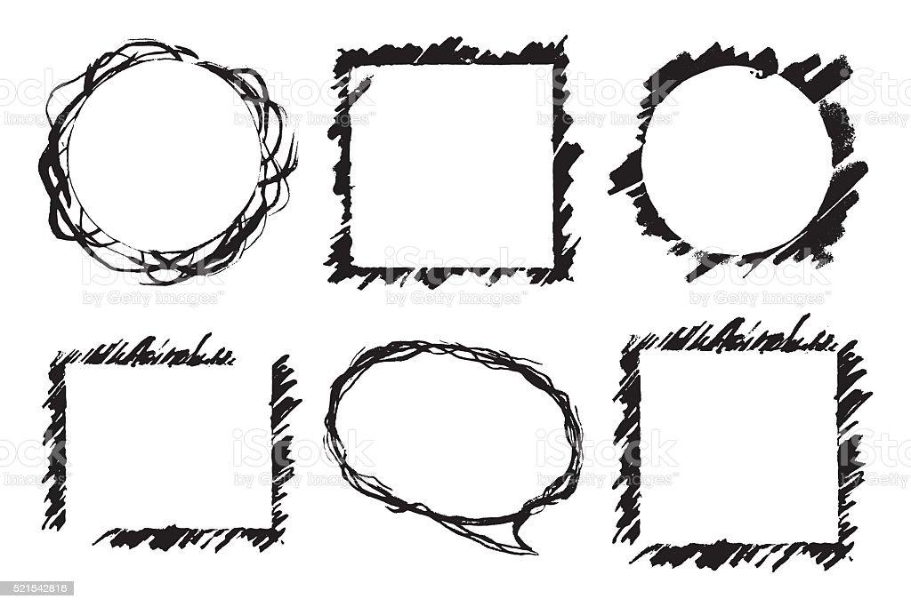 Ilustración de Blanco Y Negro Monocromo Marco Abstracto Vector De ...