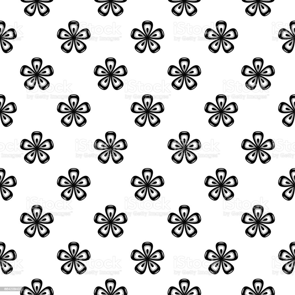 Black and white monochrome floral seamless pattern royalty-free black and white monochrome floral seamless pattern stock vector art & more images of abstract