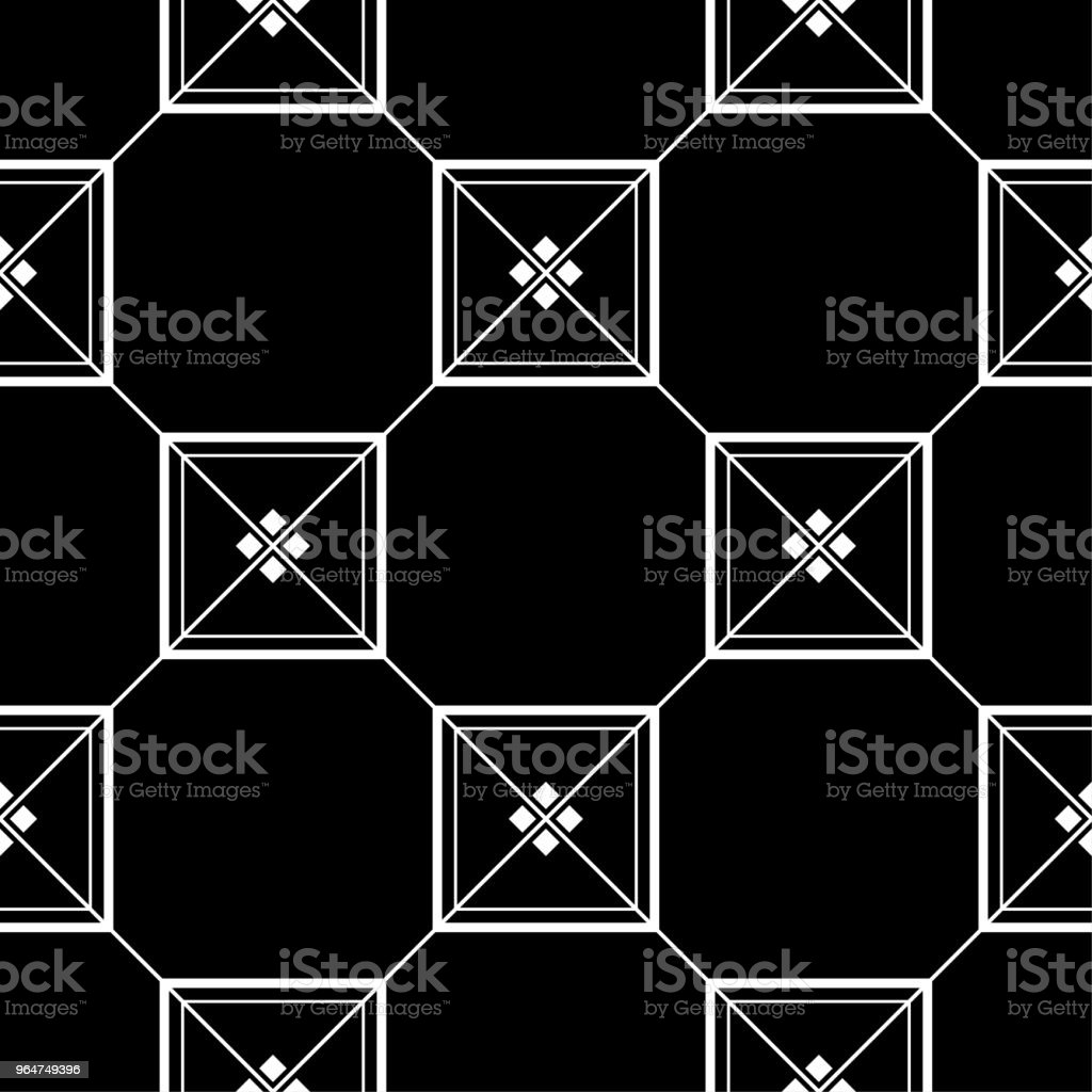 Black and white monochrome geometric seamless pattern royalty-free black and white monochrome geometric seamless pattern stock illustration - download image now