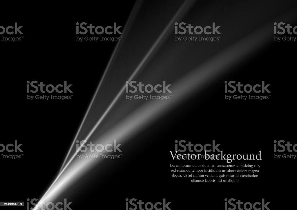 Abstraction des lignes lisses monochrome noir et blanc - Illustration vectorielle