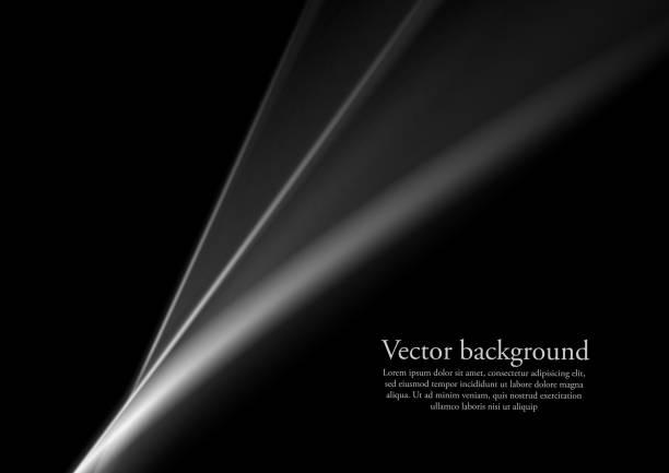 黒と白のモノクロの滑らかなラインの抽象化 ベクターアートイラスト