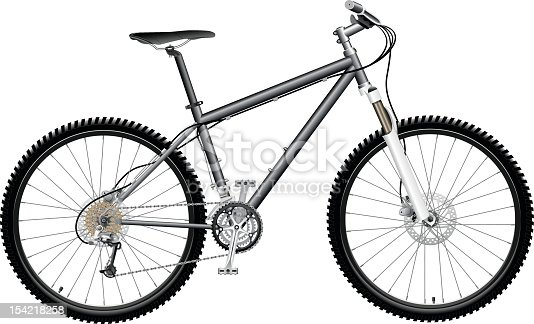 Detailed Mountain Bicycle. Zip includes CDR, AI and high-res JPEG files.