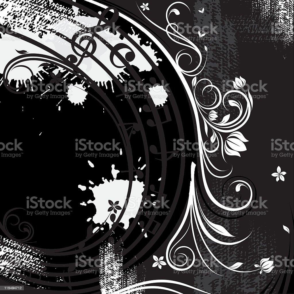 Bianco E Nero Di Sfondo Musicale Immagini Vettoriali Stock E Altre