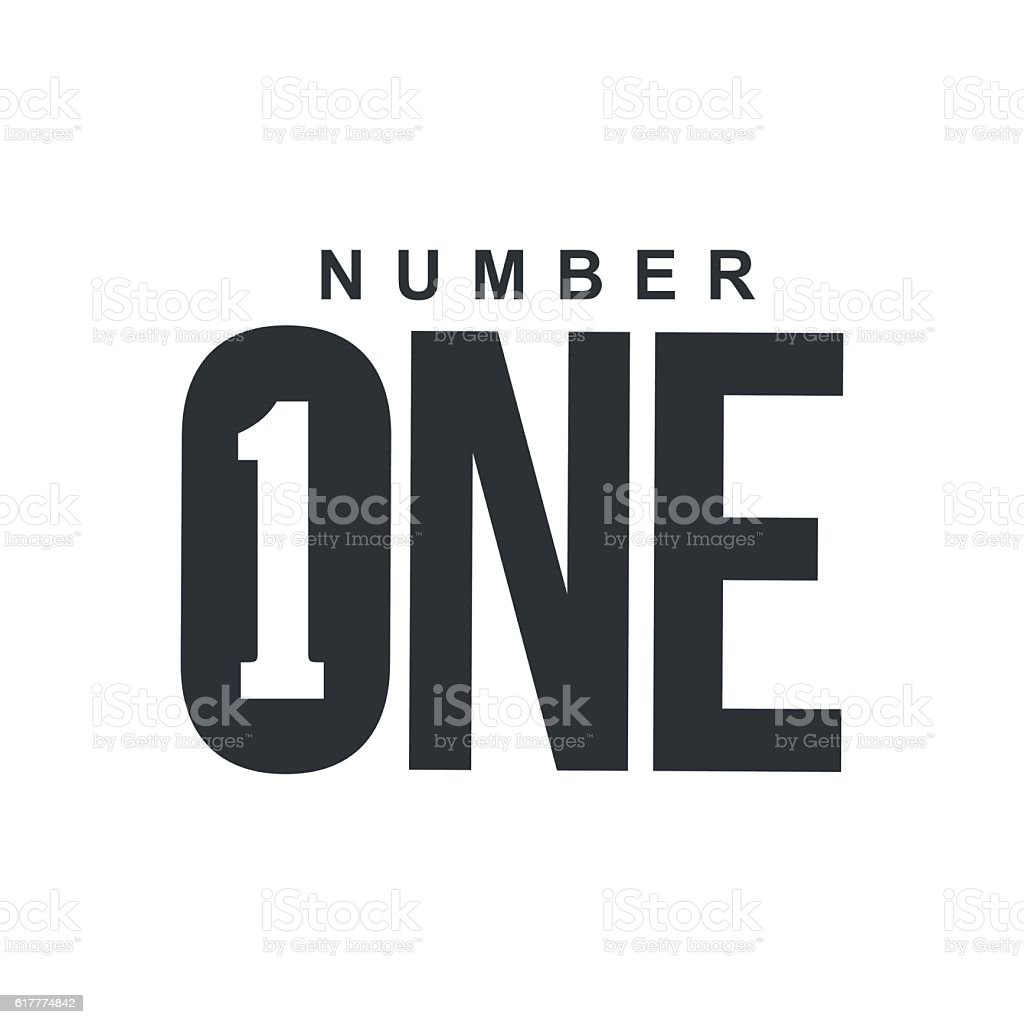 Black and white number one diagonal logo template vector art illustration