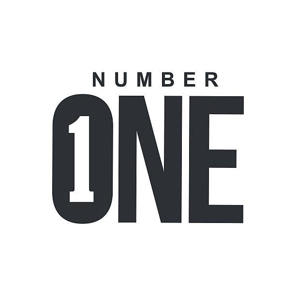bildbanksillustrationer, clip art samt tecknat material och ikoner med black and white number one diagonal logo template - nummer 1