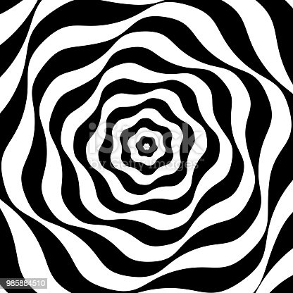 istock Black and white op art 985884510