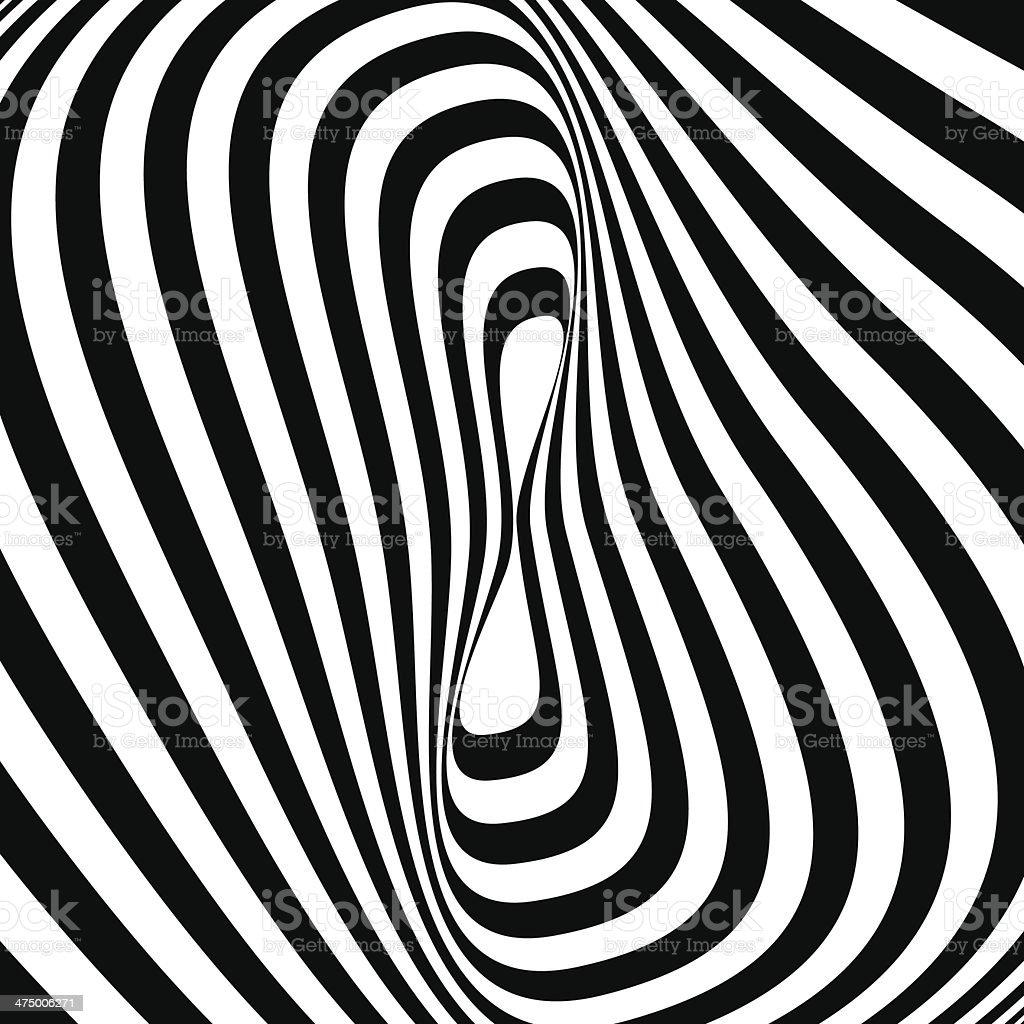 Black and White Opt Art Background vector art illustration