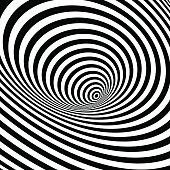 Black and white optical illusion background