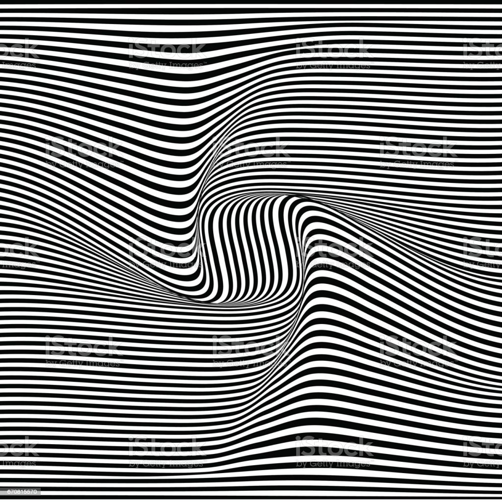 A black and white optical illusion. Vector Illustration vector art illustration