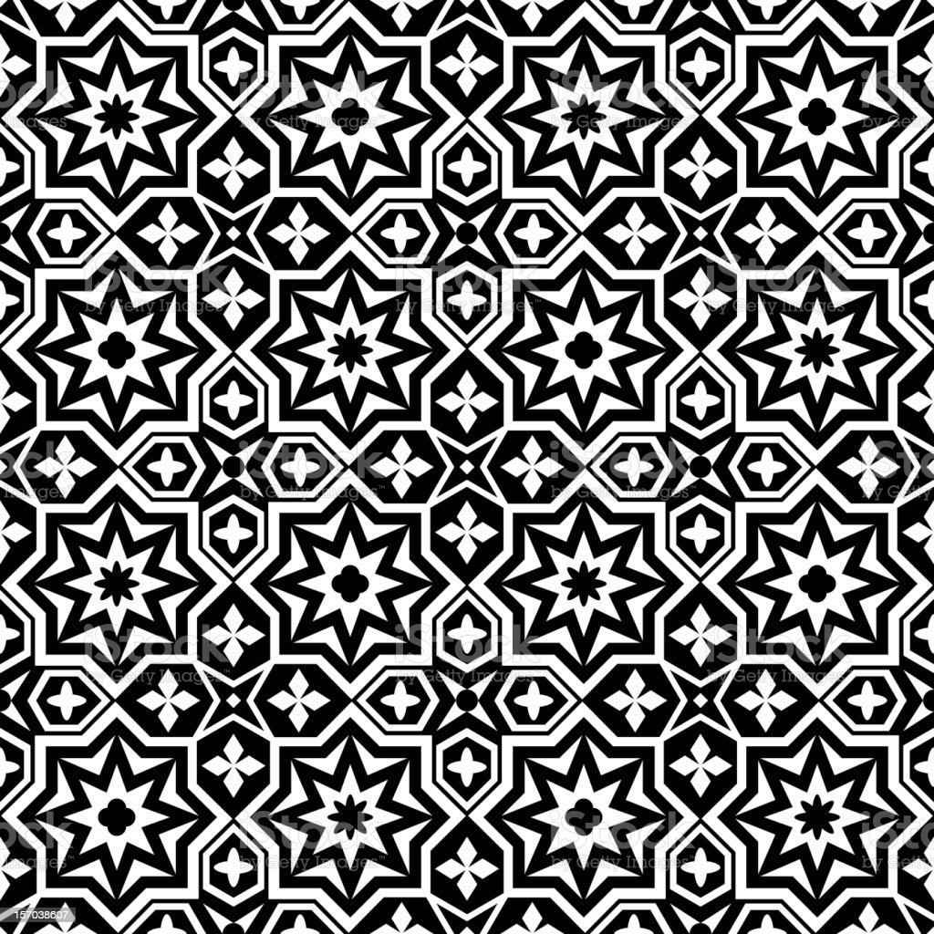 Black and white ornamental seamless pattern royalty-free stock vector art