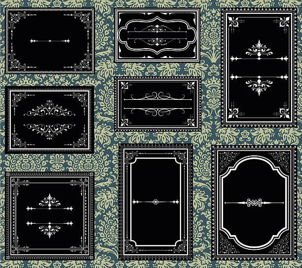 bildbanksillustrationer, clip art samt tecknat material och ikoner med black and white ornate vintage frames - gotisk stil