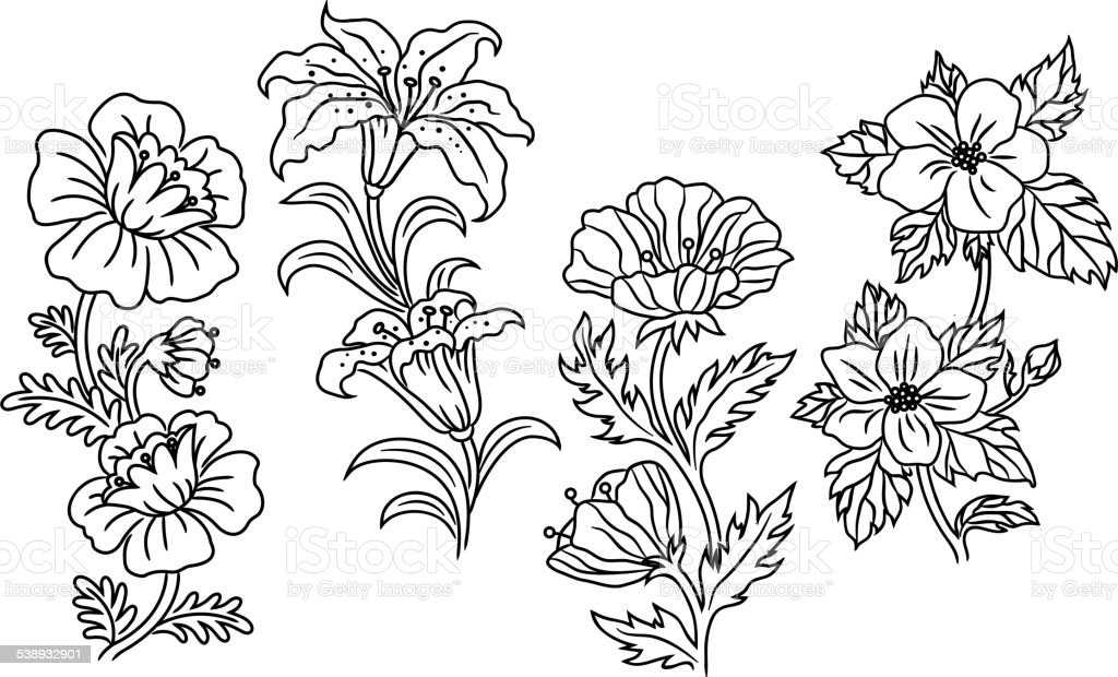 Black and white outline summer flowers stock vector art more black and white outline summer flowers royalty free black and white outline summer flowers stock mightylinksfo Gallery
