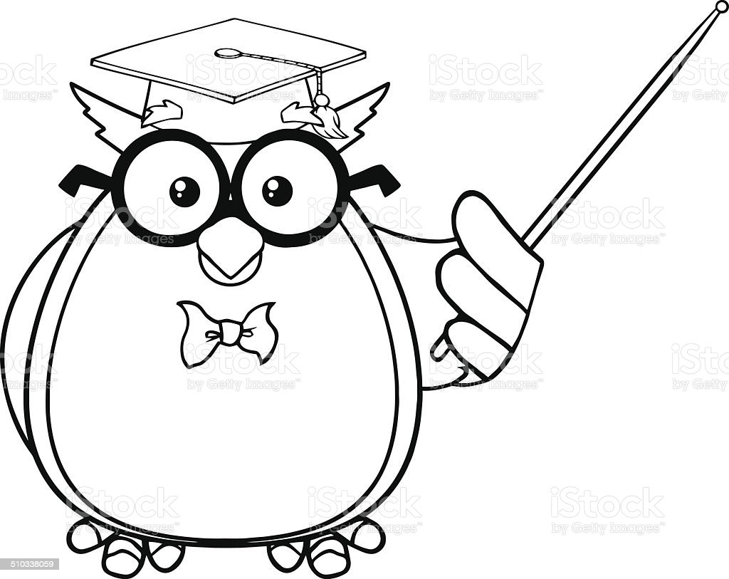 royalty free owl black and white clipart clip art vector images rh istockphoto com owl reading clipart black and white baby owl clipart black and white