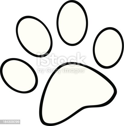 Black And White Paw Print Gm184309299 28060170 on dog bone