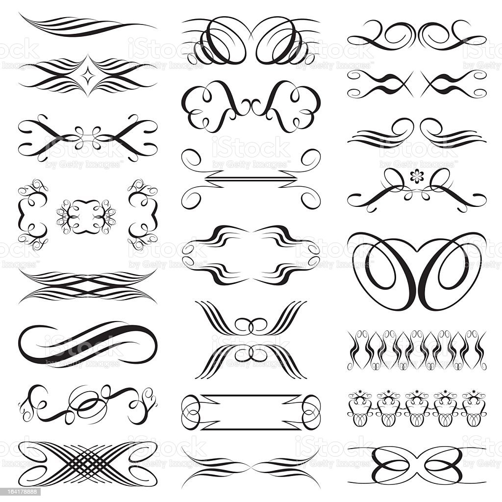 black and white pinstripe design decals stock vector art