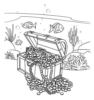 Black and White, Pirate's Treasure under the Sea
