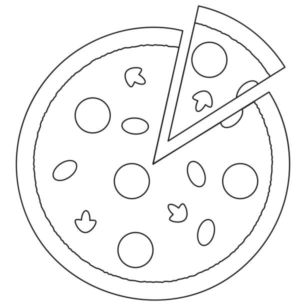 Royalty Free Pepperoni Pizza Slice White Background Clip ...