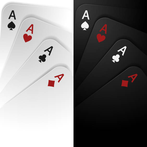 Black and white playing cards background Black and white playing cards background in vector poker stock illustrations