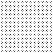 Black and white polka dot seamless pattern background, isolated on white. EPS 10 vector file
