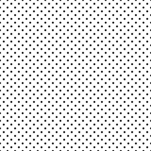 illustrazioni stock, clip art, cartoni animati e icone di tendenza di black and white polka dot seamless. eps 10 - chiazzato